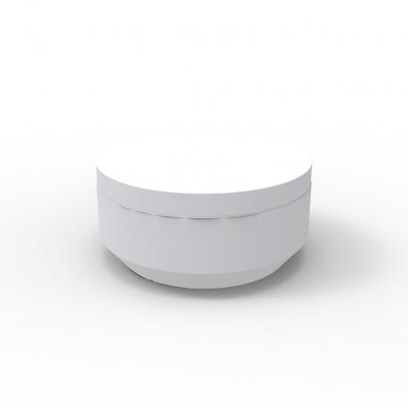 Pouf rond Vela Chill diamètre 80cm, Vondom blanc