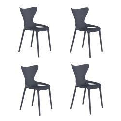 Lot de 4 chaises Love Kids, Vondom bleu marine