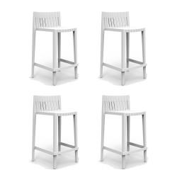 Lot de 4 tabourets hauts Spritz, hauteur d'assise 66cm, Vondom blanc