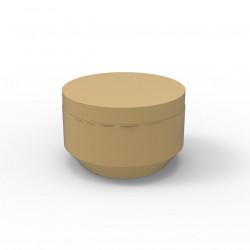 Pouf rond Vela Chill diamètre 60cm, Vondom beige