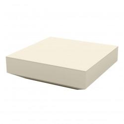 Table basse design carrée Vela, Vondom écru