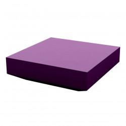 Table basse design carrée Vela, Vondom violet prune