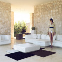 Table basse design carrée Vela, Vondom beige