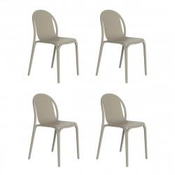 Lot de 4 chaises Brooklyn, Vondom Ecru