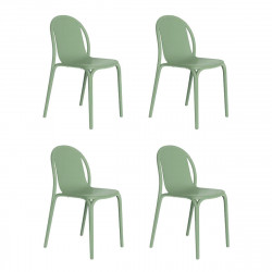 Lot de 4 chaises Brooklyn, Vondom Vert cornichon