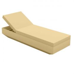 Chaise longue design Vela, Vondom Beige