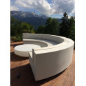 Table basse design ronde Vela diamètre 120cm, Vondom noir