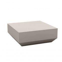 Table basse design carrée Vela Chill 80, Vondom taupe