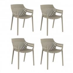 Lot de 4 fauteuils Spritz, Vondom ecru