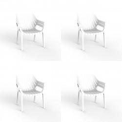 Lot de 4 fauteuils lounge Spritz, Vondom blanc