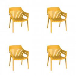 Lot de 4 fauteuils lounge Spritz, Vondom moutarde