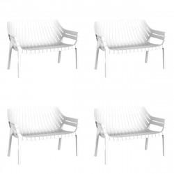 Lot de 4 sofas Spritz, Vondom blanc