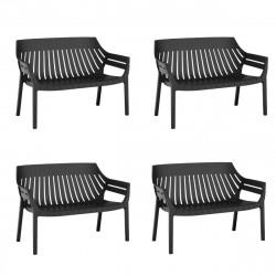 Lot de 4 sofas Spritz, Vondom noir