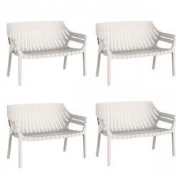 Lot de 4 sofas Spritz, Vondom ecru