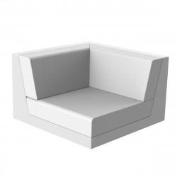Canapé outdoor modulable Pixel, module gauche, Vondom, tissu Silvertex blanc
