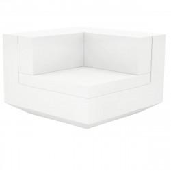 Module d\'angle canapé Vela, Vondom, 100x100xH72cm blanc