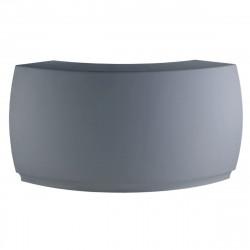 Bar Design Fiesta, module courbe 160x160xH115cm, Vondom, Gris Argent