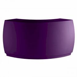 Bar Design Fiesta, module courbe 160x160xH115cm, Vondom, Violet Prune
