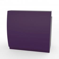 Bar design Fiesta 120, module droit 120x80xH115cm avec plan de travail, Vondom Violet Prune