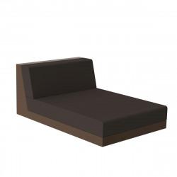 Salon de jardin design Pixel, module chaise longue, Vondom, tissu Silvertex Bronze