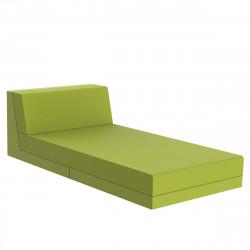 Salon de jardin lounge Pixel, module divan, Vondom, tissu Silvertex Vert Pistache