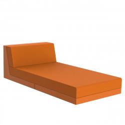 Salon de jardin lounge Pixel, module divan, Vondom, tissu Silvertex Orange
