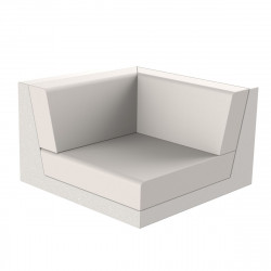 Canapé outdoor modulable Pixel, module gauche, Vondom, tissu Silvertex Ecru