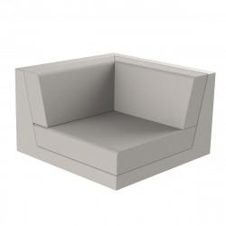 Canapé outdoor modulable Pixel, module gauche, Vondom, tissu Silvertex Taupe