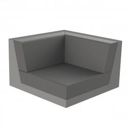 Canapé outdoor modulable Pixel, module gauche, Vondom, tissu Silvertex Gris Anthracite