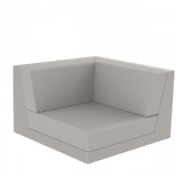 Canapé composable outdoor Pixel, module d'angle, Vondom, tissu Silvertex Ecru