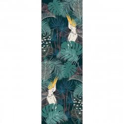 Tapis vinyle Jungle et Perroquets rectangulaire, 95x300cm, collection Paradisio, Pôdevache