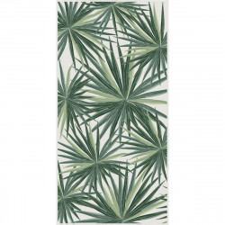 Tapis vinyle Feuilles Palmier rectangulaire, 99x198cm, collection Tropicalisme, Pôdevache