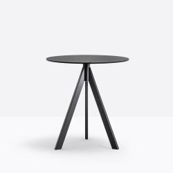 Petite table Arki-Base Ark3, noir, Pedrali, ∅59