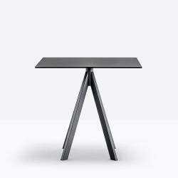 Table Arki-Base Ark4, noir, Pedrali, H72xL79x79