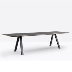 Table design Arki-table, noir, Pedrali, H74xL300xl120