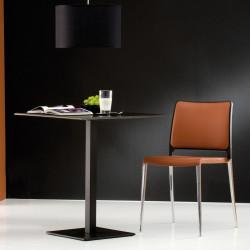 Pied de table Inox 4402, aluminium, revêtement noir, Pedrali