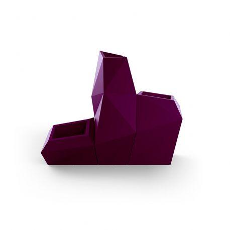 Ensemble de 3 pots Faz, Taille L, Vondom, violet prune