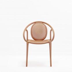 Lot de 4 fauteuils Remind 3735, Pedrali, terracotta