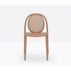 Lot de 4 chaises Remind 3730, Pedrali, terracotta