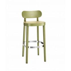 118 HT tabouret hauteur d'assise 65cm cannée, Thonet, vert olive