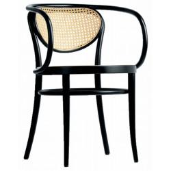 """Fauteuil 210 R Thonet, dit """"Le Corbusier"""", dossier et assise cannée, noir"""
