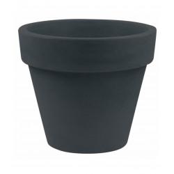 Lot de 2 Pots Maceta diamètre 60 x hauteur 52 cm, simple paroi, Vondom gris anthracite