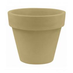 Lot de 2 Pots Maceta diamètre 60 x hauteur 52 cm, simple paroi, Vondom beige