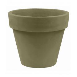 Lot de 2 Pots Maceta diamètre 60 x hauteur 52 cm, simple paroi, Vondom kaki