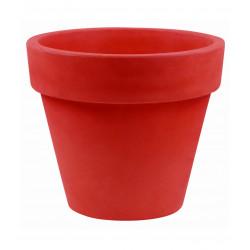 Lot de 2 Pots Maceta diamètre 60 x hauteur 52 cm, simple paroi, Vondom rouge