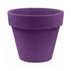 Pot Maceta diamètre 80 x hauteur 69 cm, simple paroi, Vondom violet prune