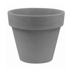 Pot Maceta diamètre 160 x hauteur 138 cm, simple paroi, Vondom gris argent