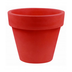 Pot Maceta diamètre 200 x hauteur 172 cm, simple paroi, Vondom rouge