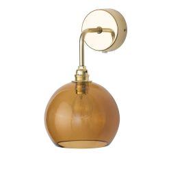Applique verre soufflé Rowan Toast, diamètre 15,5 cm, Ebb & Flow, rosace et bras doré