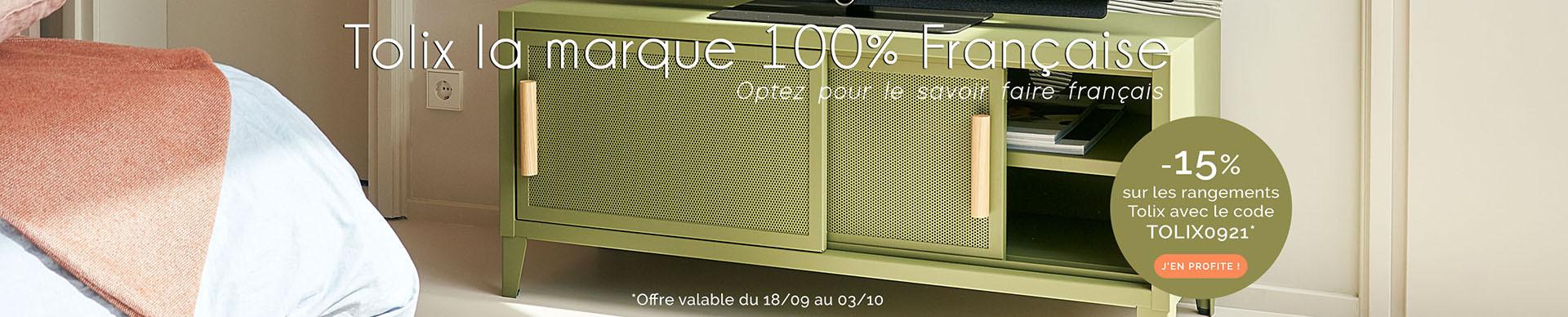 Profitez de -15% sur les meubles de rangement Tolix !